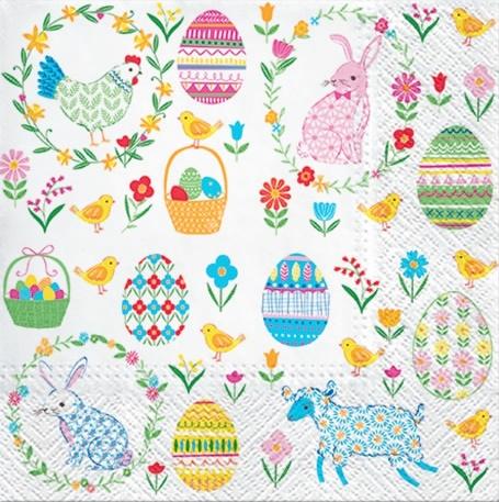 Servetel - Easter Everywhere - 33x33 cm