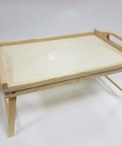 Tava din lemn pentru servit cu picioare.