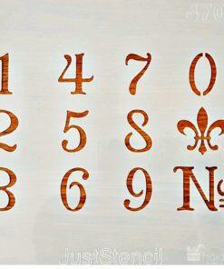 Șablon – numere – cifre – 20×20 cm