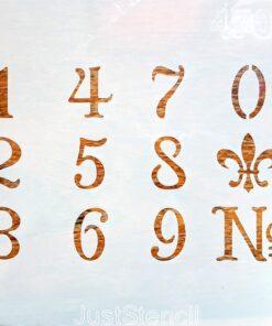 Șablon – numere - cifre - 20×20 cm
