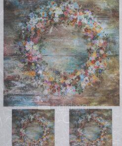 Hârtie de orez - circle of flower - A4