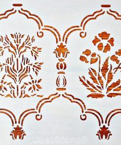 Șablon – floral wall stencil – 20×30 cm