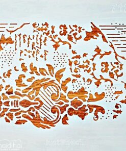 Șablon – mixmedia 1 – 30×30 cm