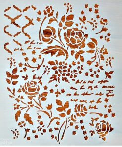Șablon – mixmedia 2 – 30×30 cm