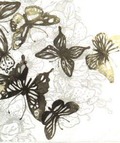 Șervețel - Amazing Butterflies anthracite - 33x33 cm
