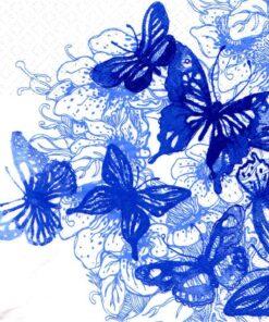 Șervețel - Amazing Butterflies blue - 33x33 cm