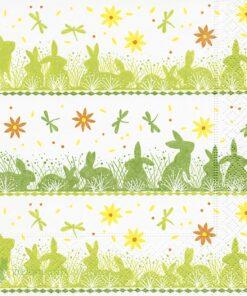 Șervețel - Bunny meadow - 33x33 cm