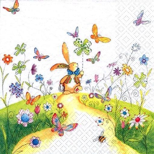 Șervețel - Bunny with Pinwheel - 33x33 cm