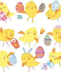 Șervețel - Easter Chicks White - 33x33 cm