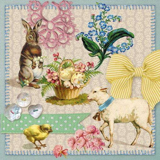 Șervețel - Easter Collage - 33x33 cm