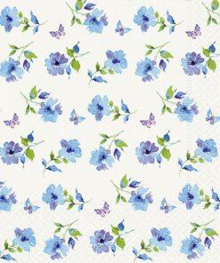 Șervețel - Florets blue - 33x33 cm