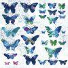 Șervețel - Fly away blue - 33x33 cm