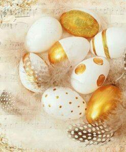 Șervețel - Golden Eggs - 33x33 cm