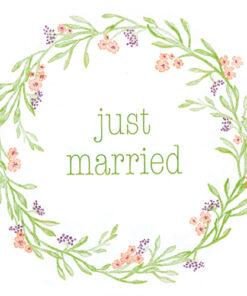 Șervețel - Just Married - 33x33 cm