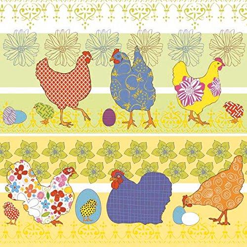 Șervețel - Modern Chickens Yellow - 33x33 cm