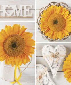 Șervețel - Sunflowers Collage - 33x33 cm