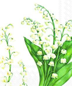 Șervețel - lăcrămioare - festive may - 33x33 cm