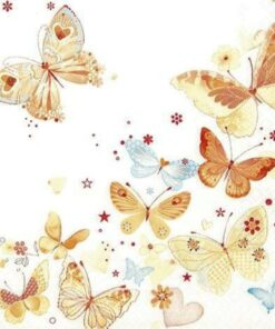 Șervețel - lovely butterflies - 33x33 cm