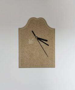 Ceas din MDF cu bordură decorativă