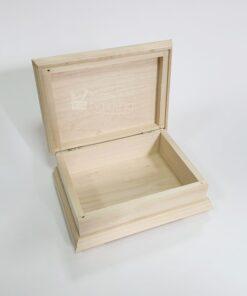 Cutie din lemn cu magine decorativă - 17x12,5 cm