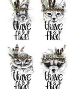 Hârtie decoupage - Brave&free - A4