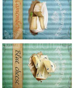 Hârtie decoupage - Set cheese 1 - A4