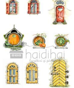 Hârtie decoupage - doors&windows 1 - A4