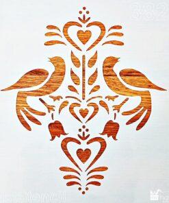 Sablon – folk birds – 30×30 cm