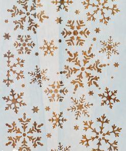 Sablon – fulgi de nea - snowflakes – 20×30 cm