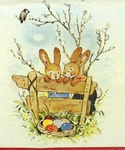 Șervețel - Bunny Friends - 33x33 cm