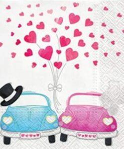 Șervețel - Cars in Love - 33x33 cm