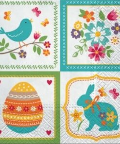 Servetel - Easter colagge - 33x33 cm
