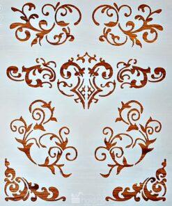 Șablon – mixmedia 4 – 30×30 cm