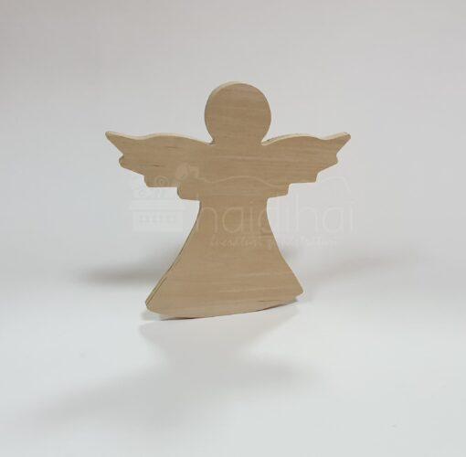 Înger decorativ din lemn - h 20 cm