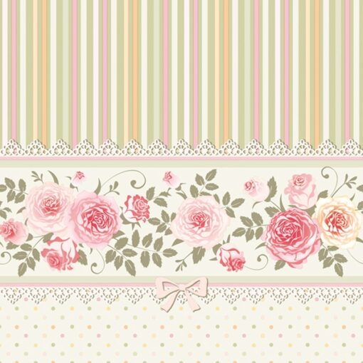 Șervețel – English Roses and Stripes – 33×33 cm