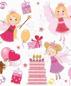 Șervețel - Birthday Fairies - 33×33 cm