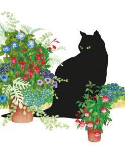 Șervețel Black Cat Flower Pot - 33×33 cm