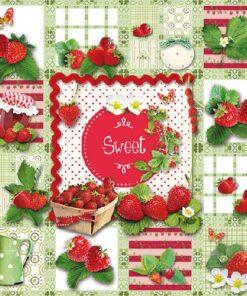 Șervețel Sweet Strawberries - 33×33 cm