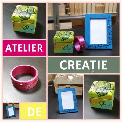 Atelier de creație - decorare cutie din lemn, brățară sau ramă foto 2