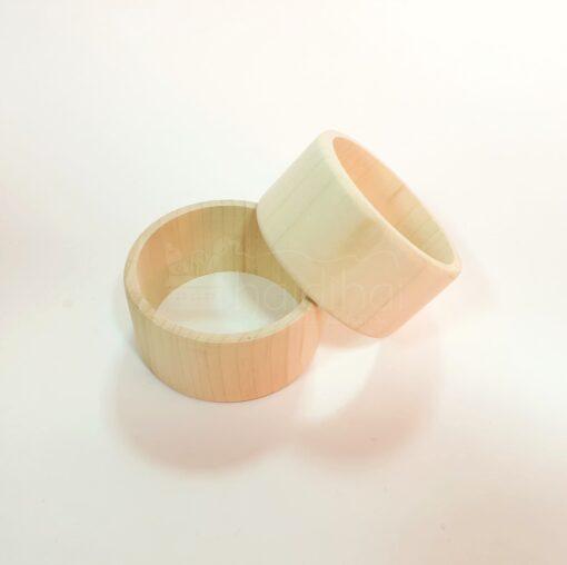 Brațară din lemn natur – 40 mm 1