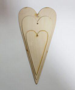 Figurină inimă - formă alungită - set 3 haidihai