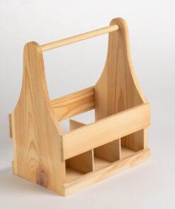 Lădiță lemn – suport pentru 6 sticle