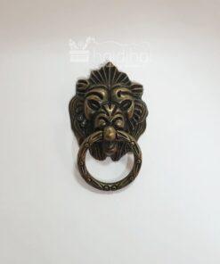 Mâner metalic decorativ - leu – pentru cutii