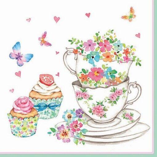 Servețel - Cup and Cupcakes - 33×33 cm