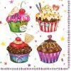 Servețel - Cupcakes - 33×33 cm