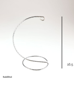 Suport metalic decorativ argintiu cromat– glob – h 16,5 cm