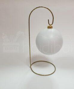 Suport metalic decorativ auriu - glob - h 28 cm