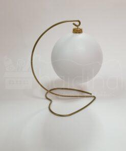 Suport metalic decorativ inimă - auriu – h 21 cm