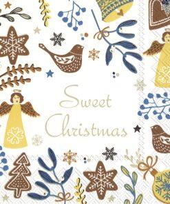 Șervețel – Sweet Christmas White – 33×33 cm