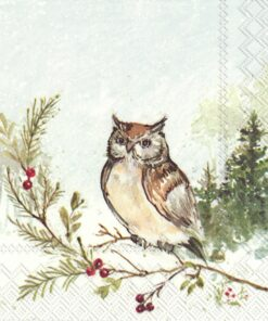 Șervețel – Woodland Owl – 33×33 cm